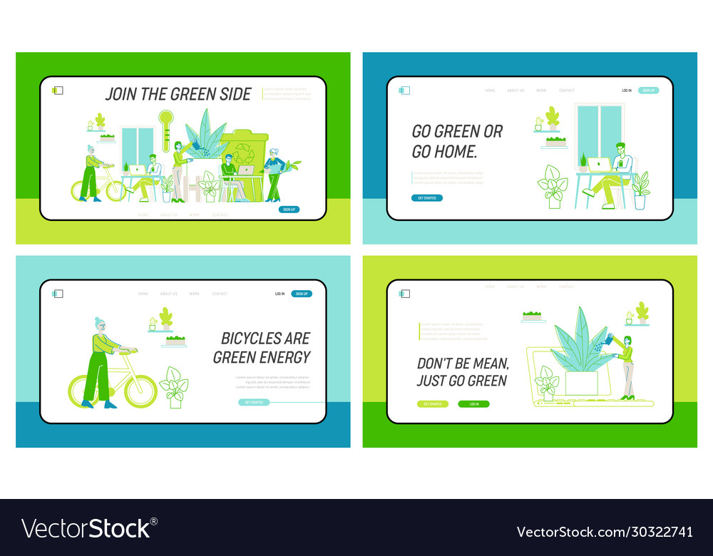 Business people work together in modern green
