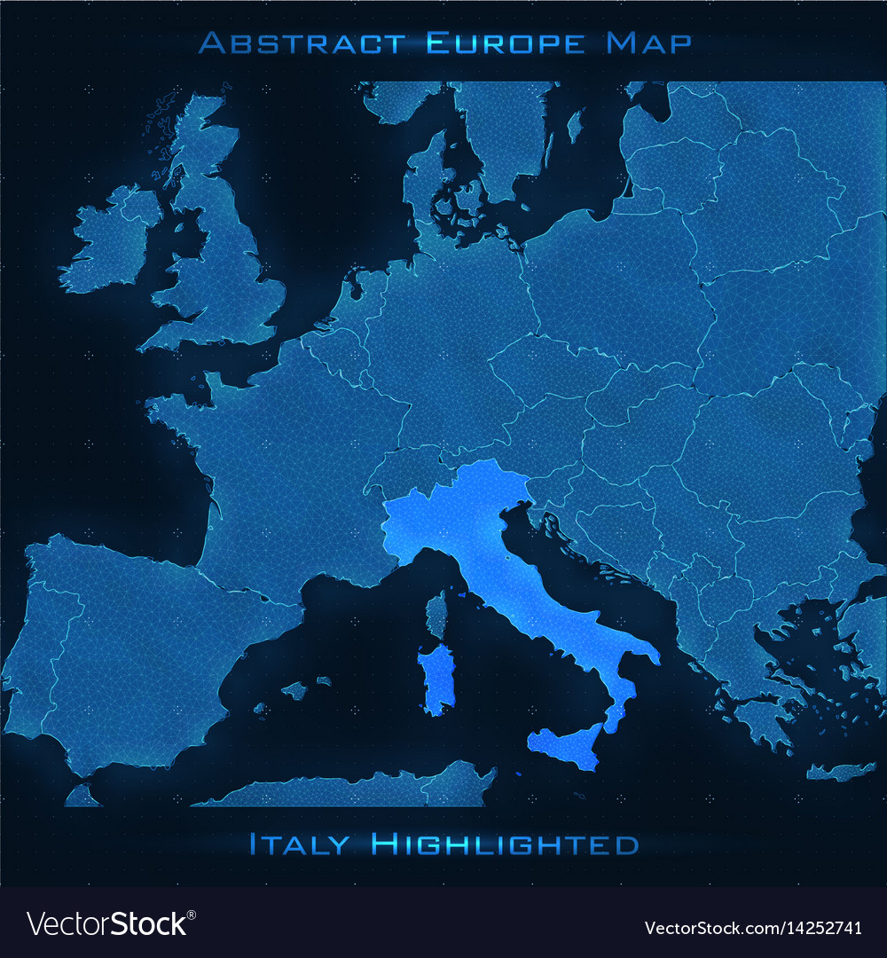 Europe Abstract Map Italy Royalty Free Vector Image