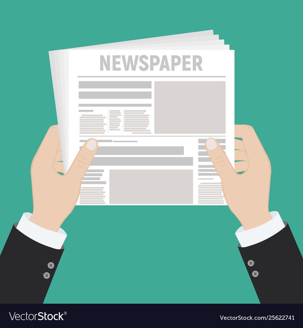 Hot latest news businessman hands holding