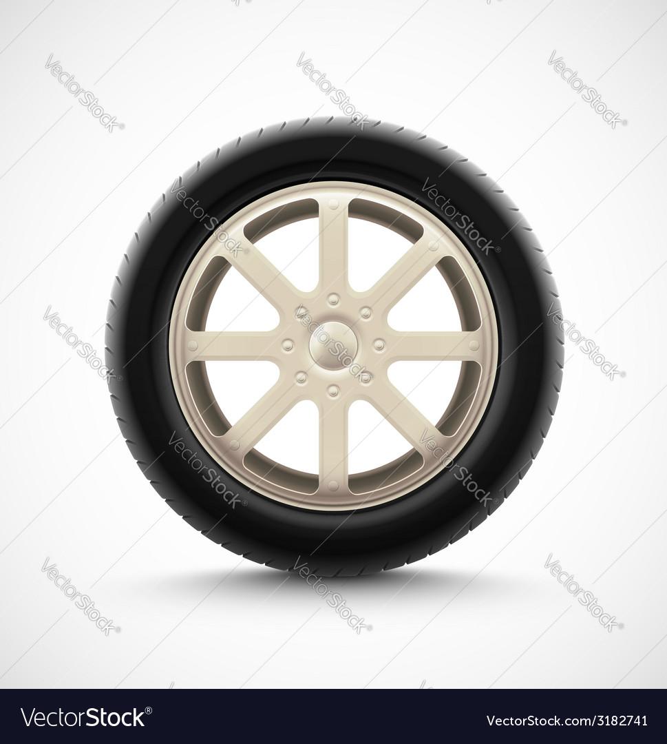 Isolated Car Wheel