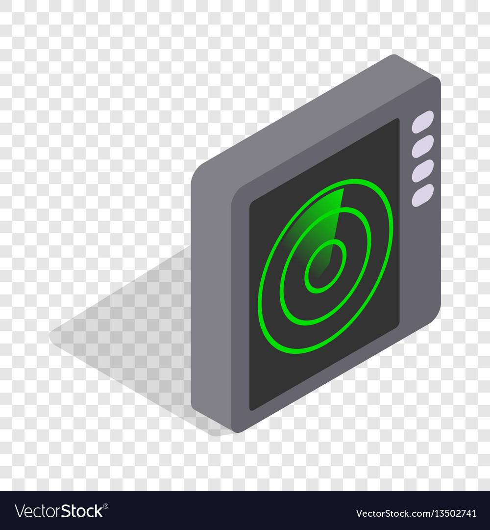 Radar screen isometric icon