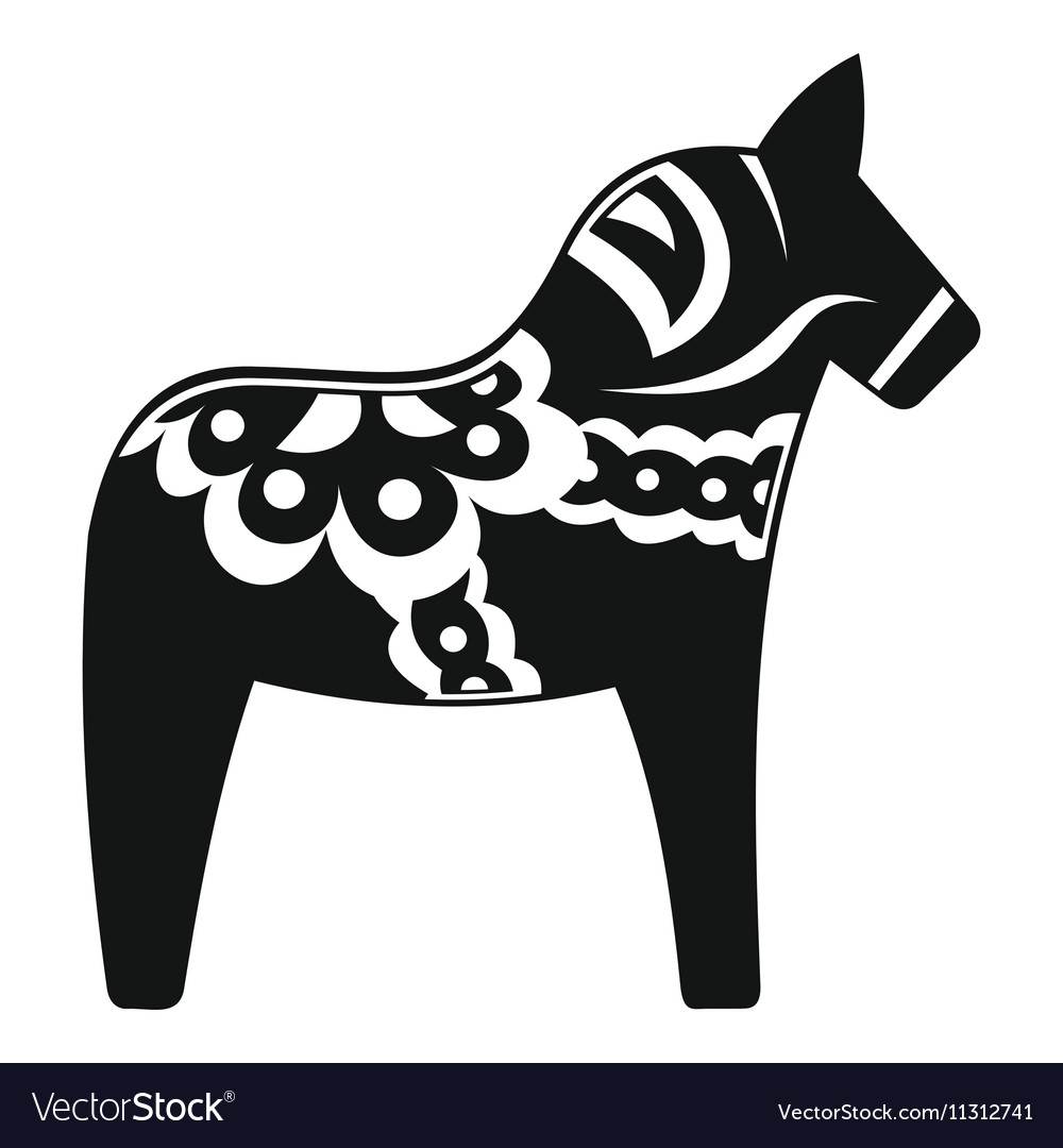 Toy Horse Icon Simple Style Royalty Free Vector Image