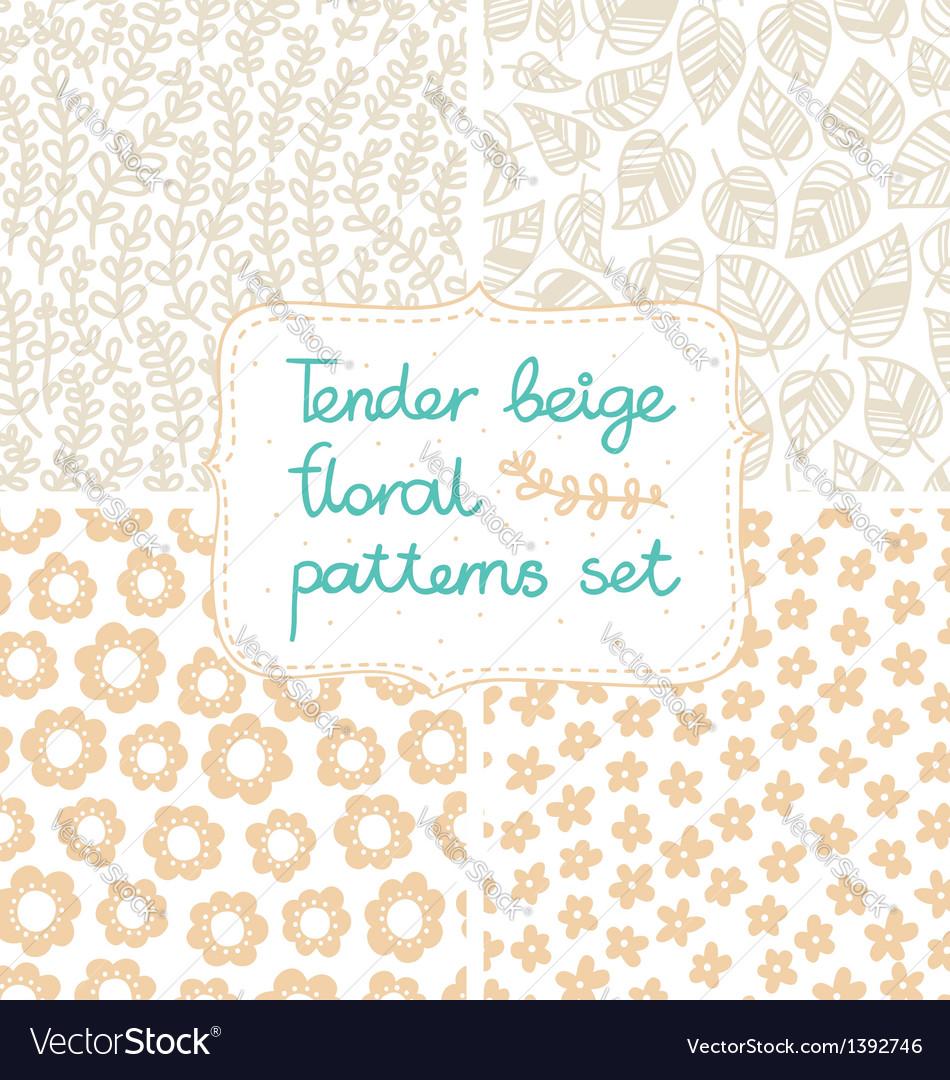 Beige patterns set