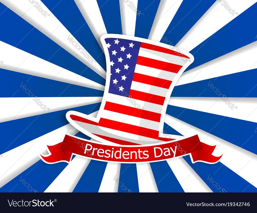 President day usa flag on hat