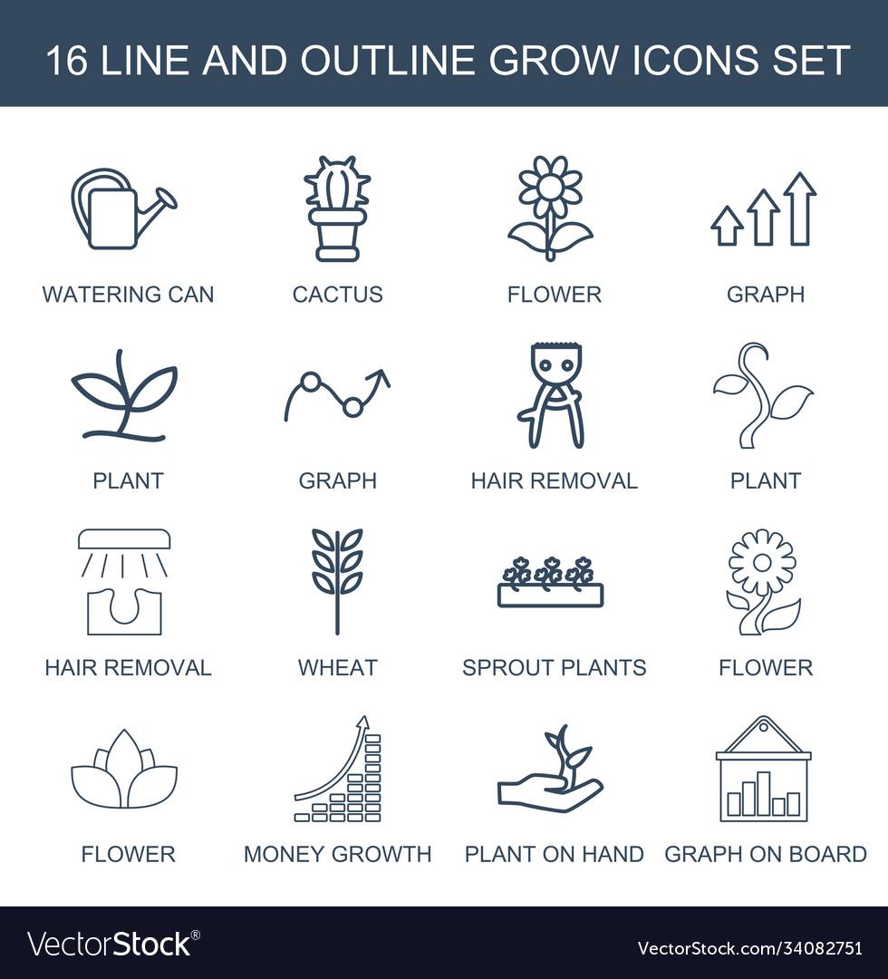16 grow icons