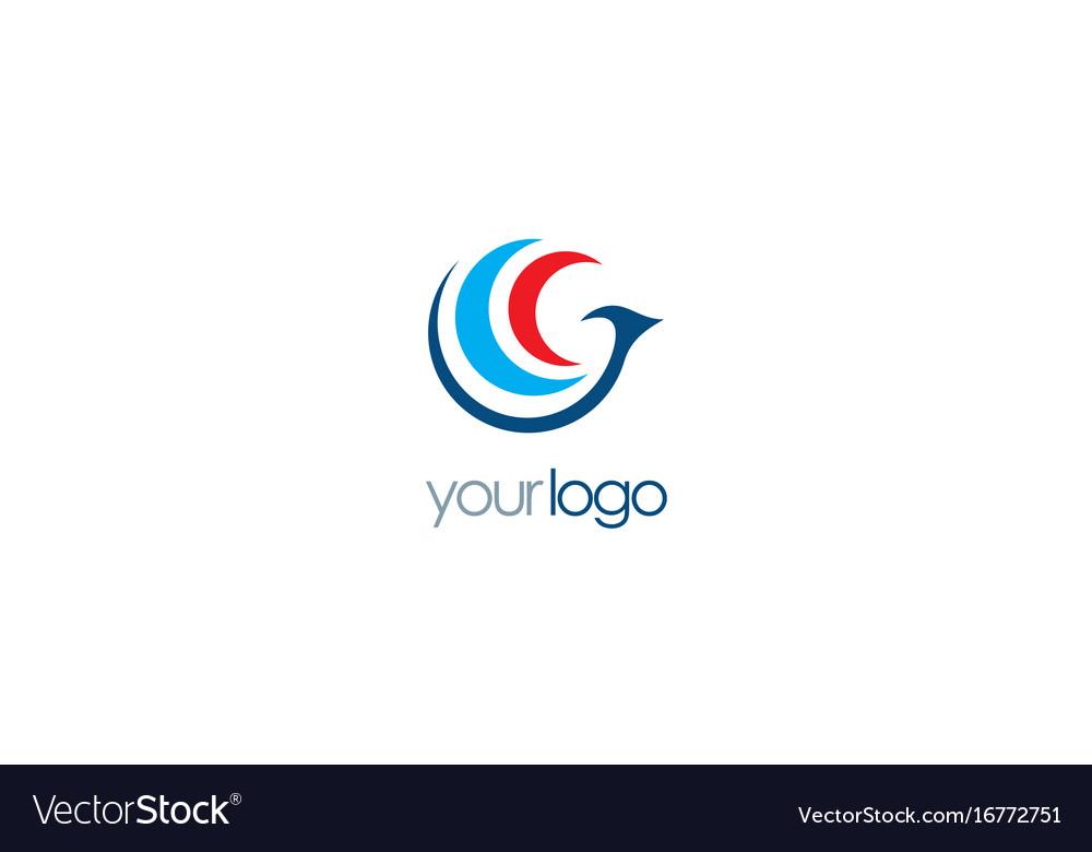 Bird fly abstract logo