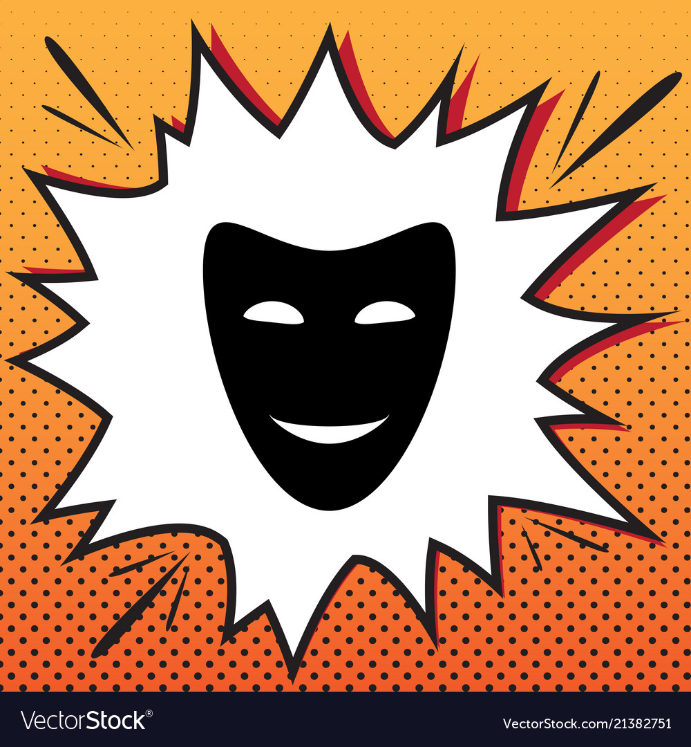 Comedy theatrical masks comics style icon