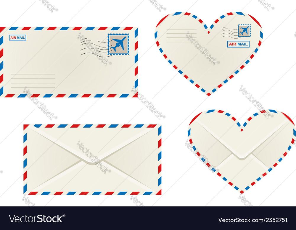Different airmail envelopes