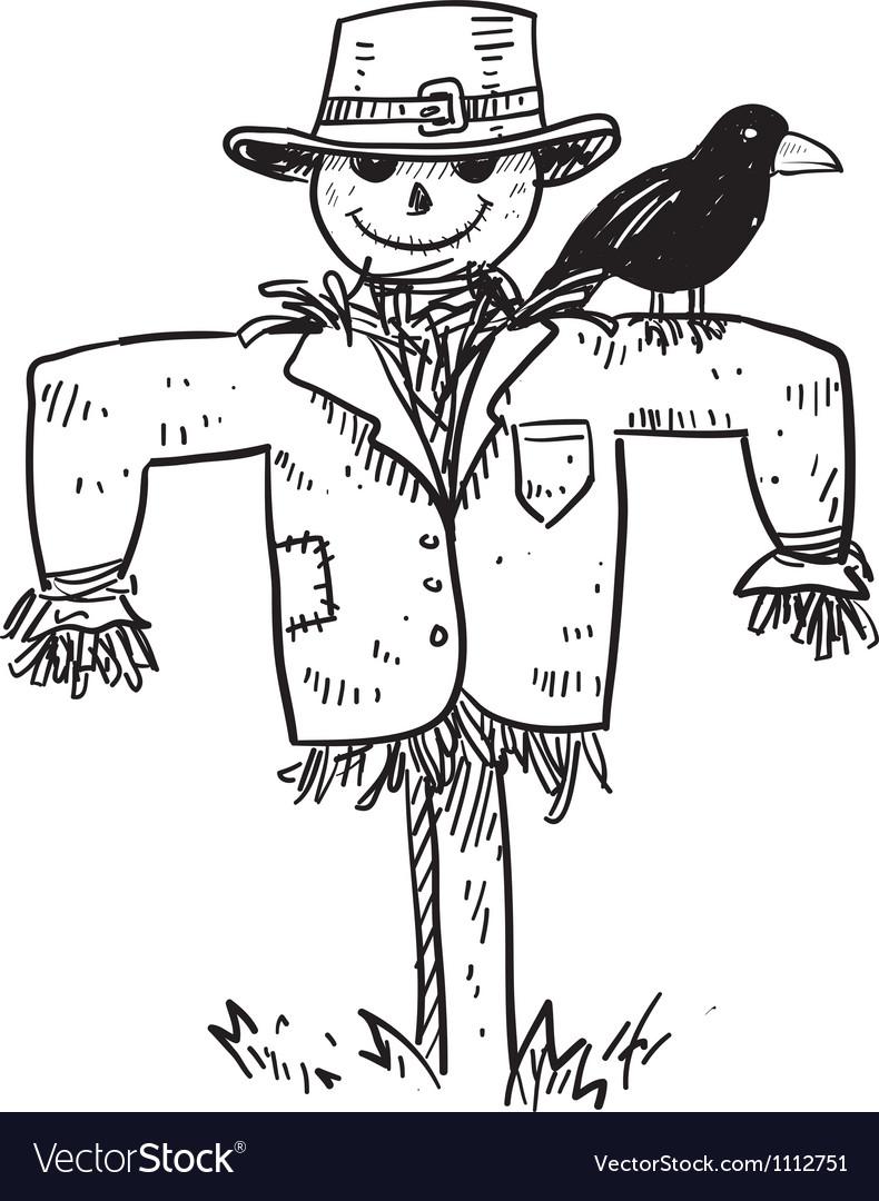 Doodle scare crow