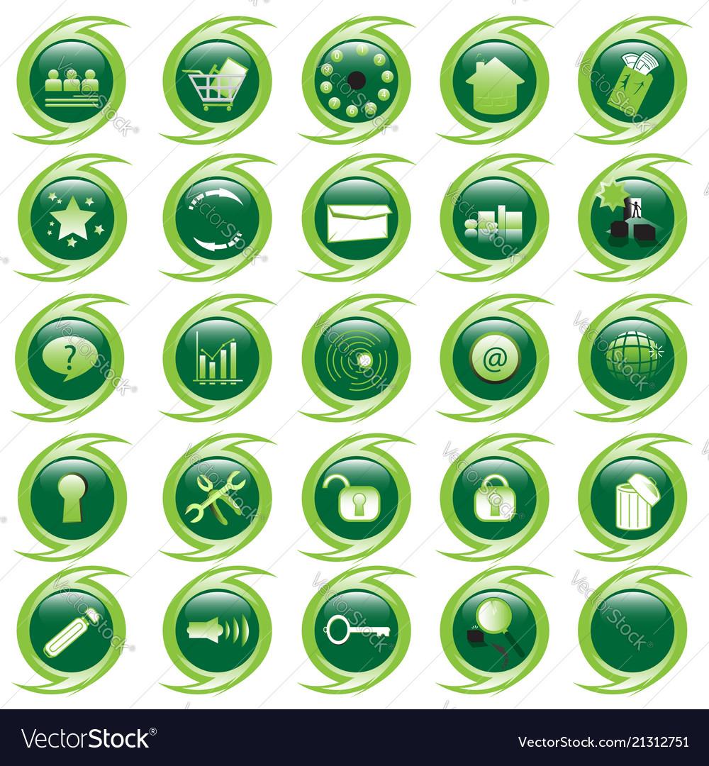Internet website icons set