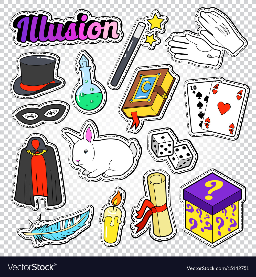 Magician wizard doodle with magic wand vector image