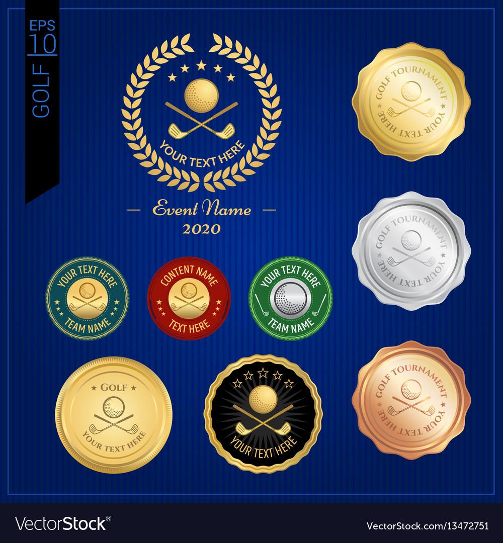 Set of golf badge label or emblem for sport vector image