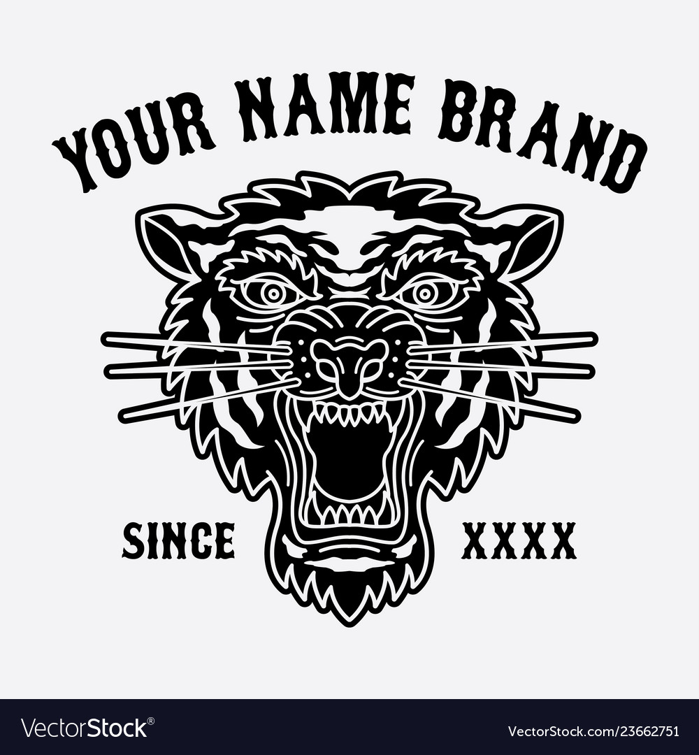 Tiger head logo for clothing