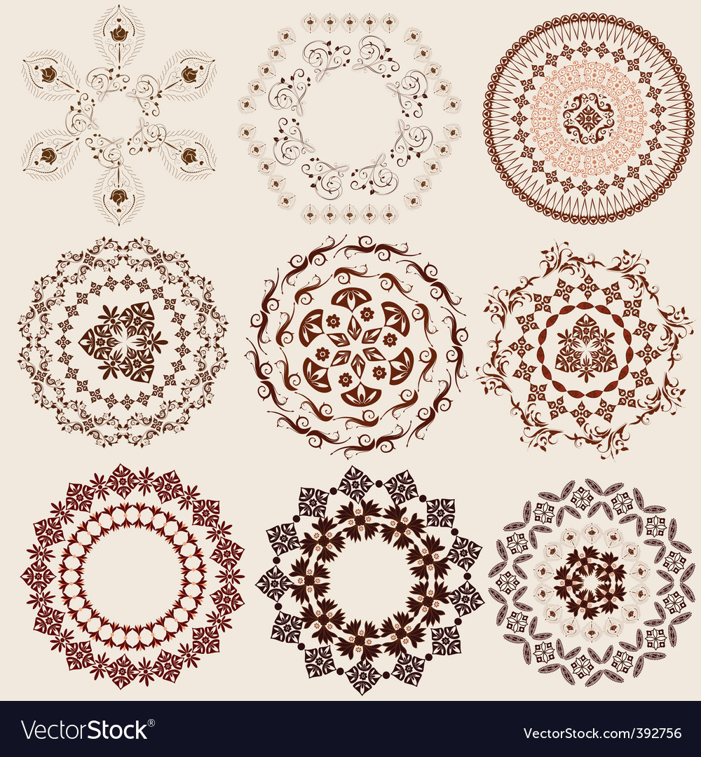 Arabesque pattern set