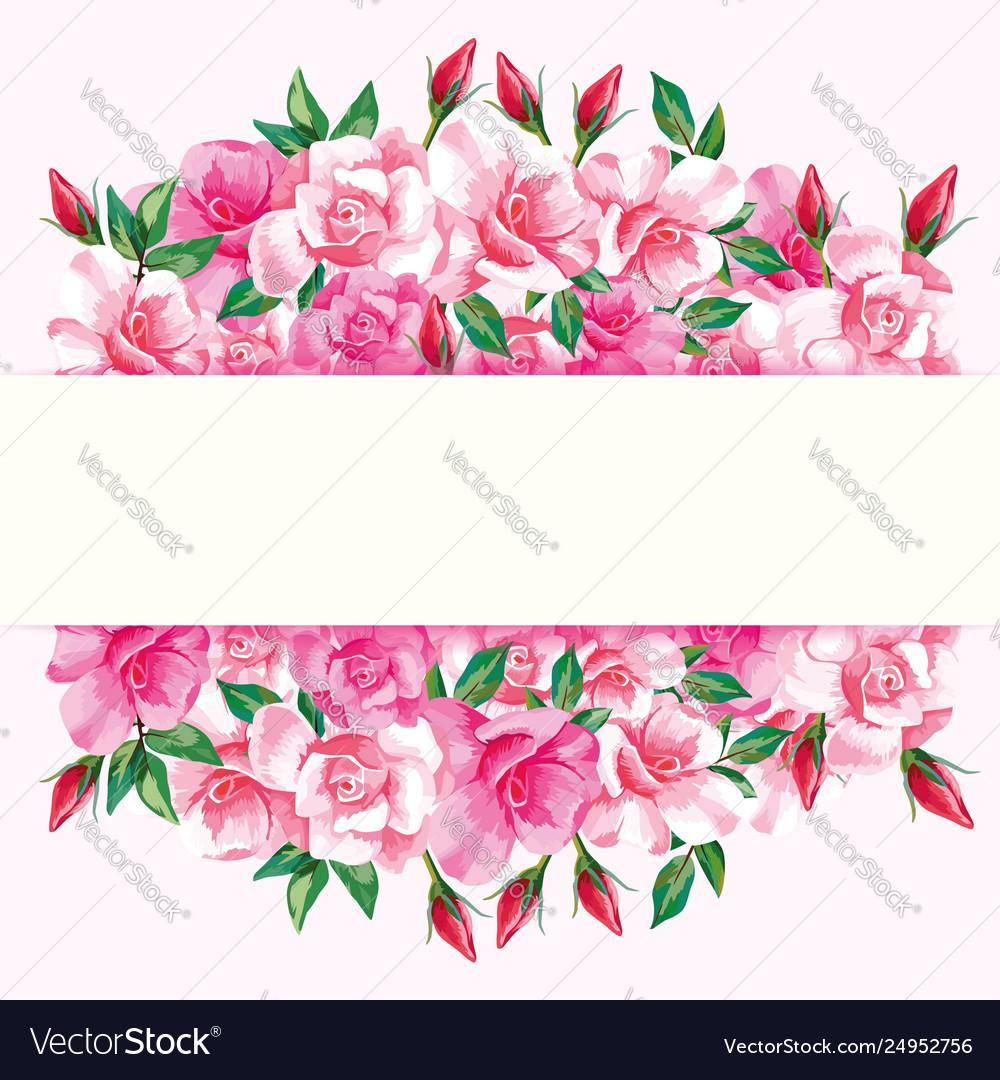 Border roses design frame