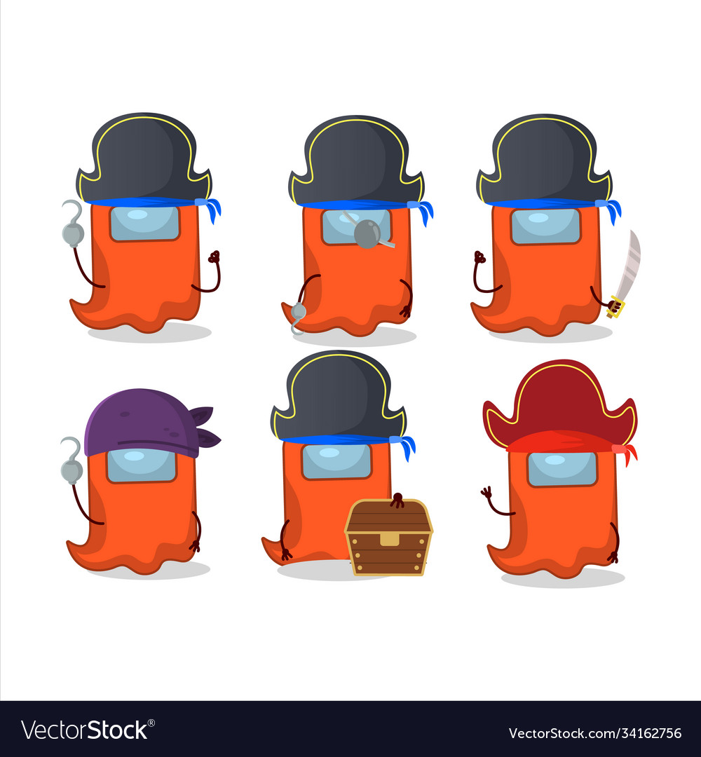 Cartoon Character Ghost Among Us Orange With Vector Image
