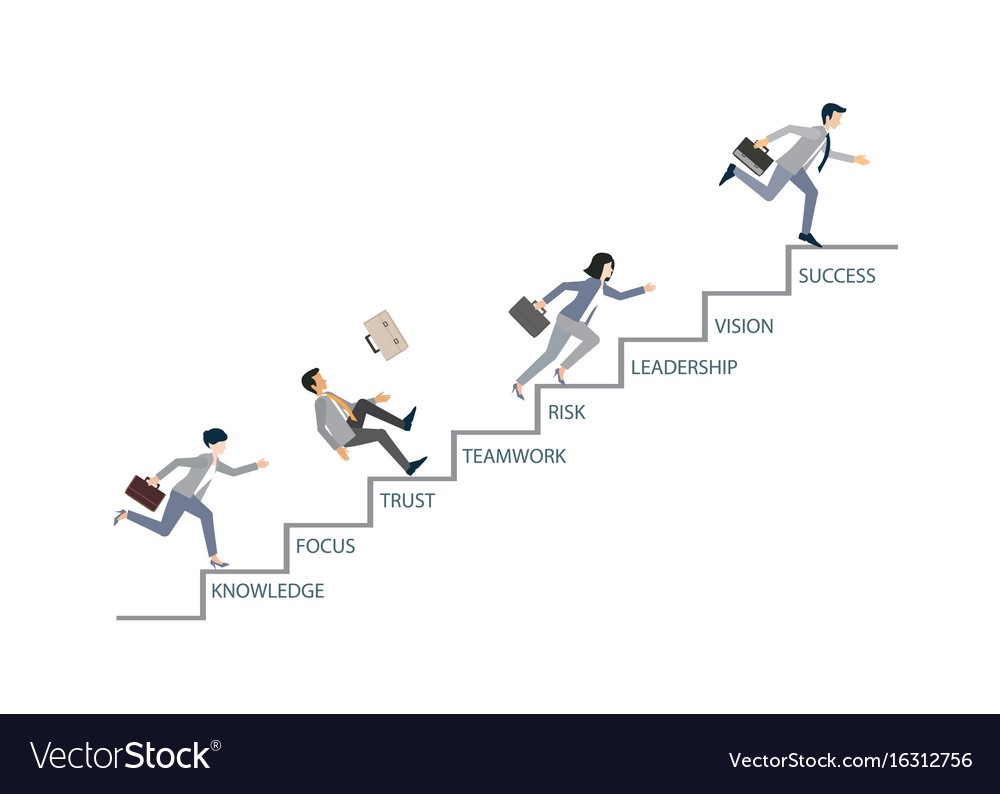 Concept of competition with business people vector image