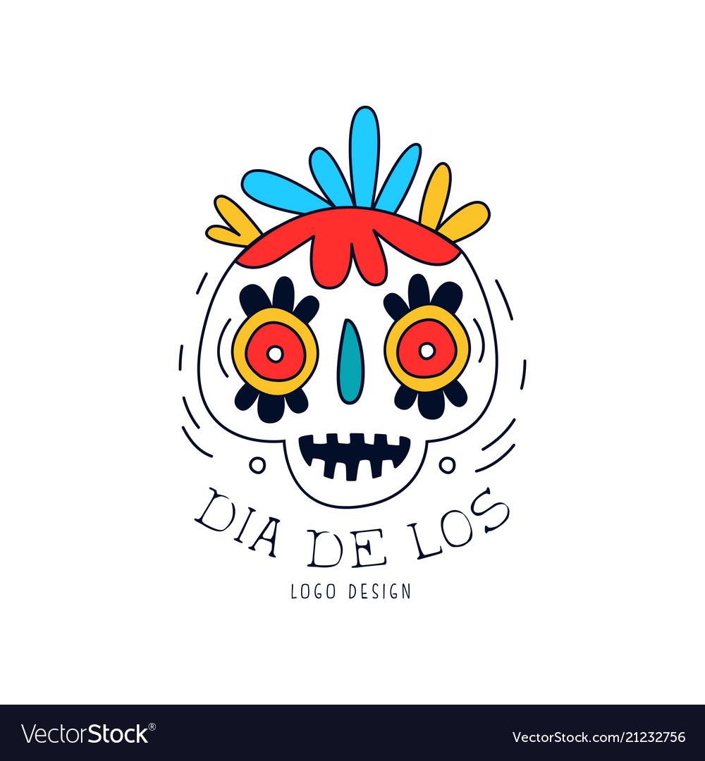 Dia de los logo mexican day of the dead holiday