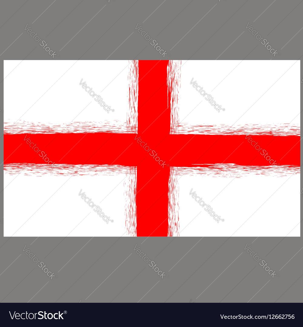 English St George Flag vector image