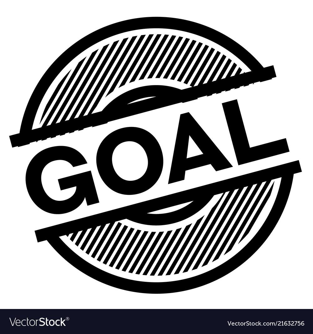Goal black stamp Vector Image