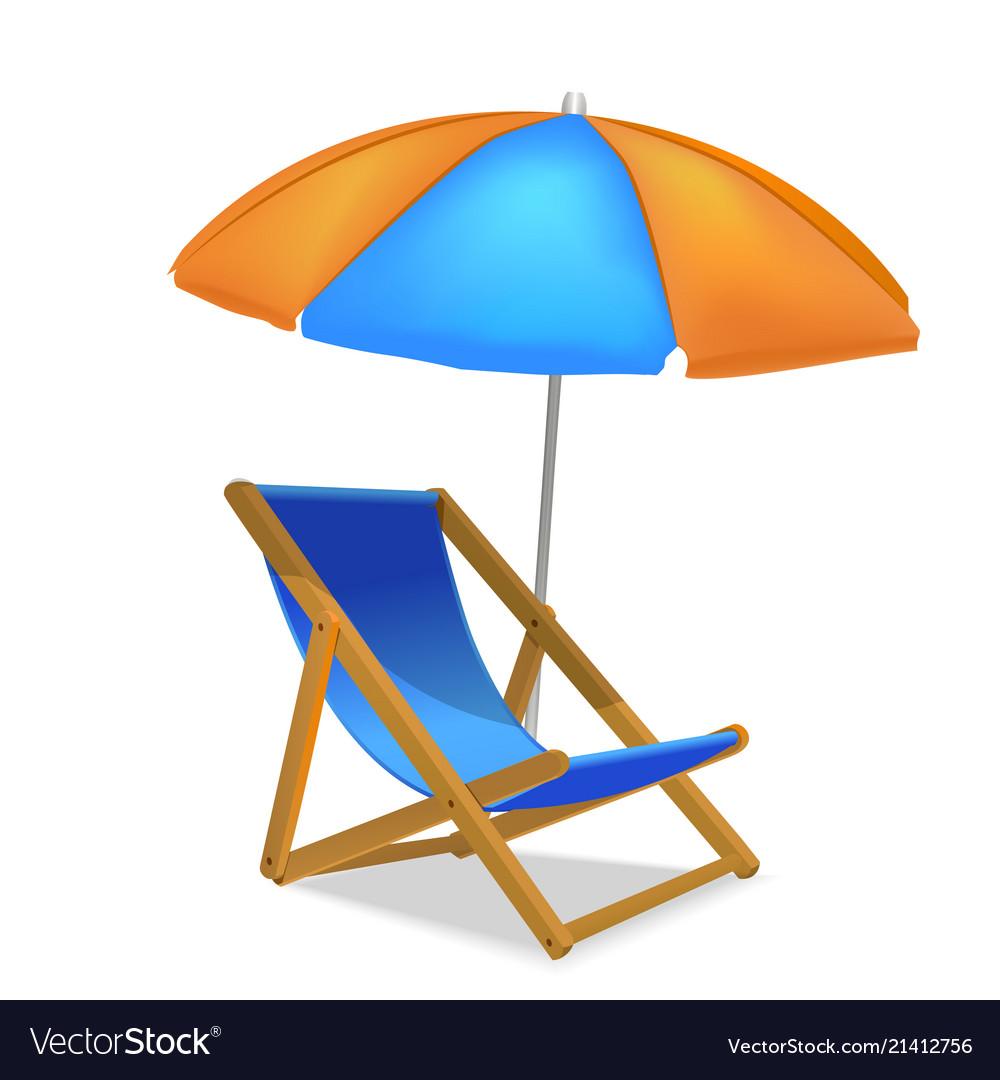 Realistic detailed 3d sun bed chair