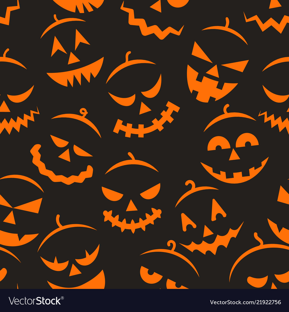 Scary halloween pattern