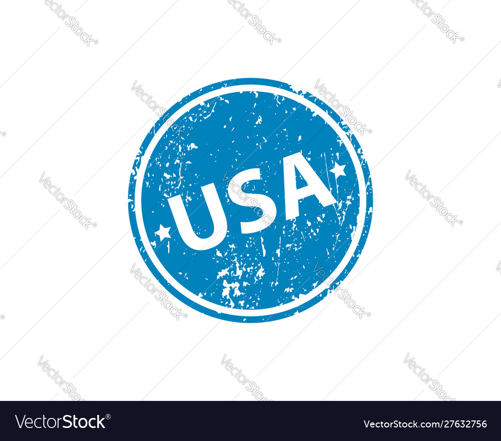 Usa stamp texture rubber cliche imprint web or