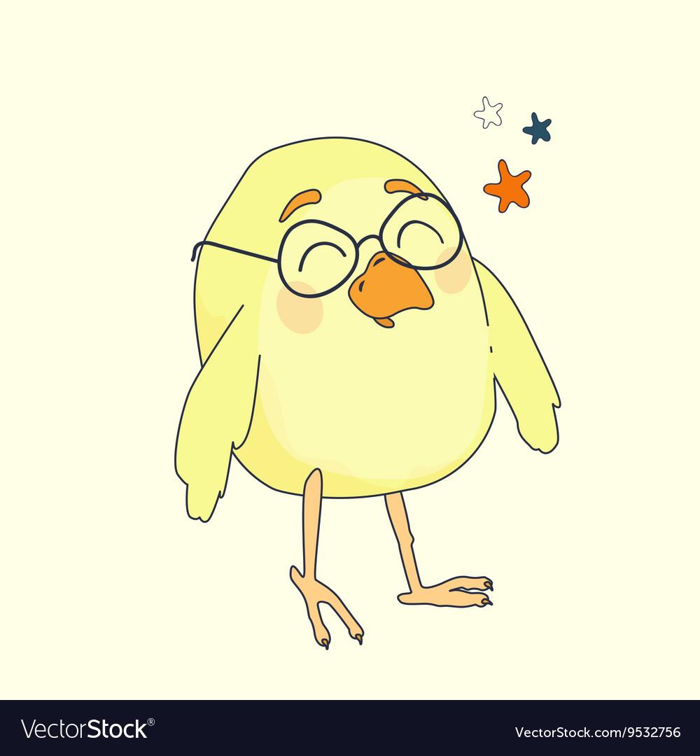 Yellow cartoon bird