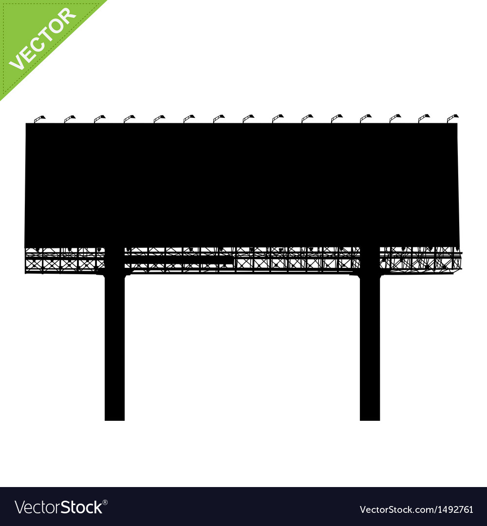 Advertising billboard silhouettes vector image
