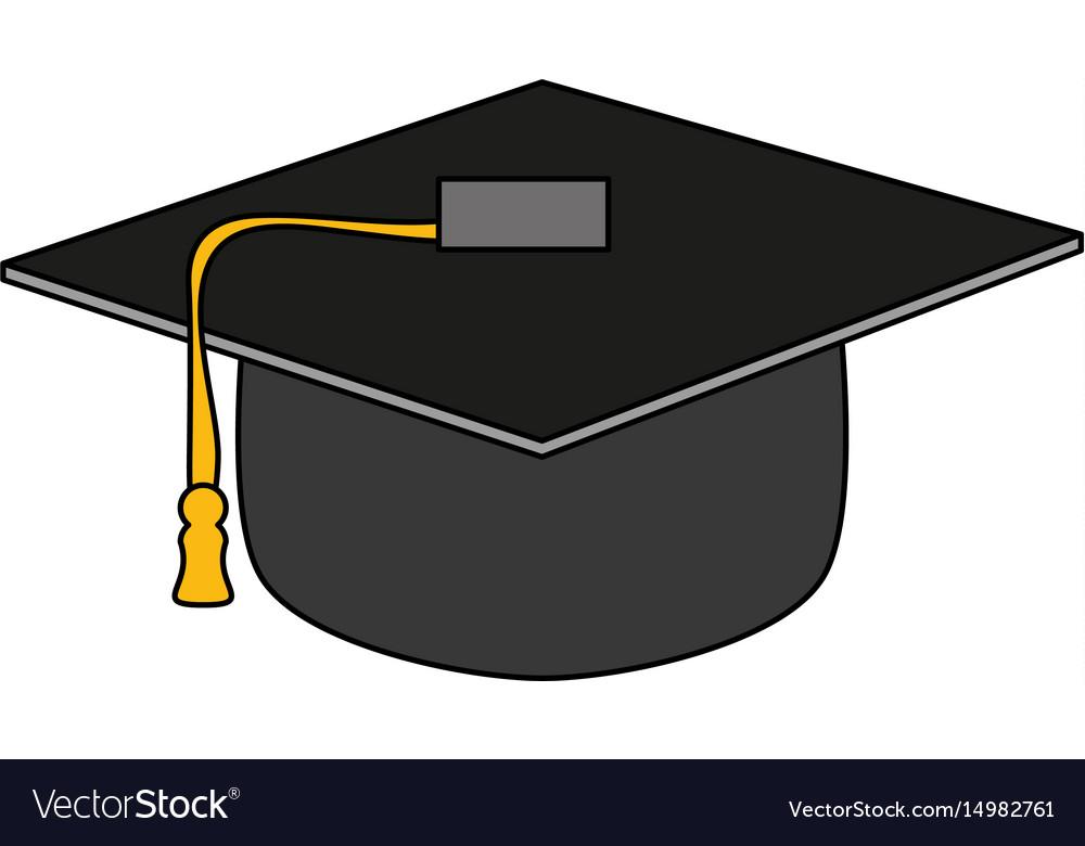 Graduation toga hat vector image