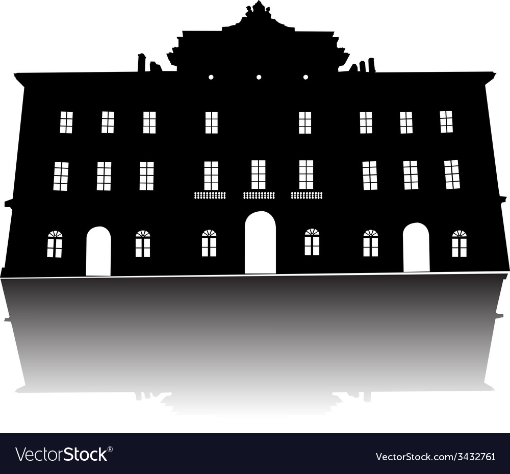 Old building Silhouette vector image