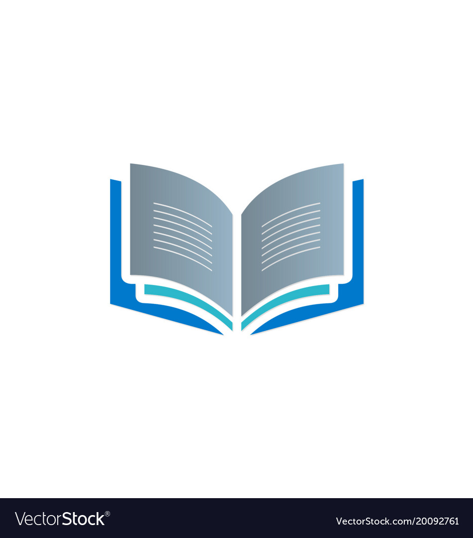 open book knowledge read logo royalty free vector image rh vectorstock com open book logo images open book logo vector free download