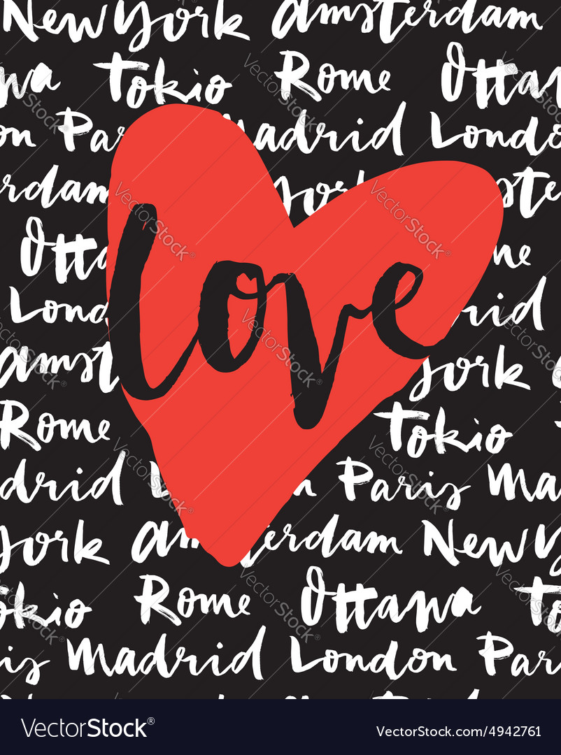 Postcard love Cities of the world