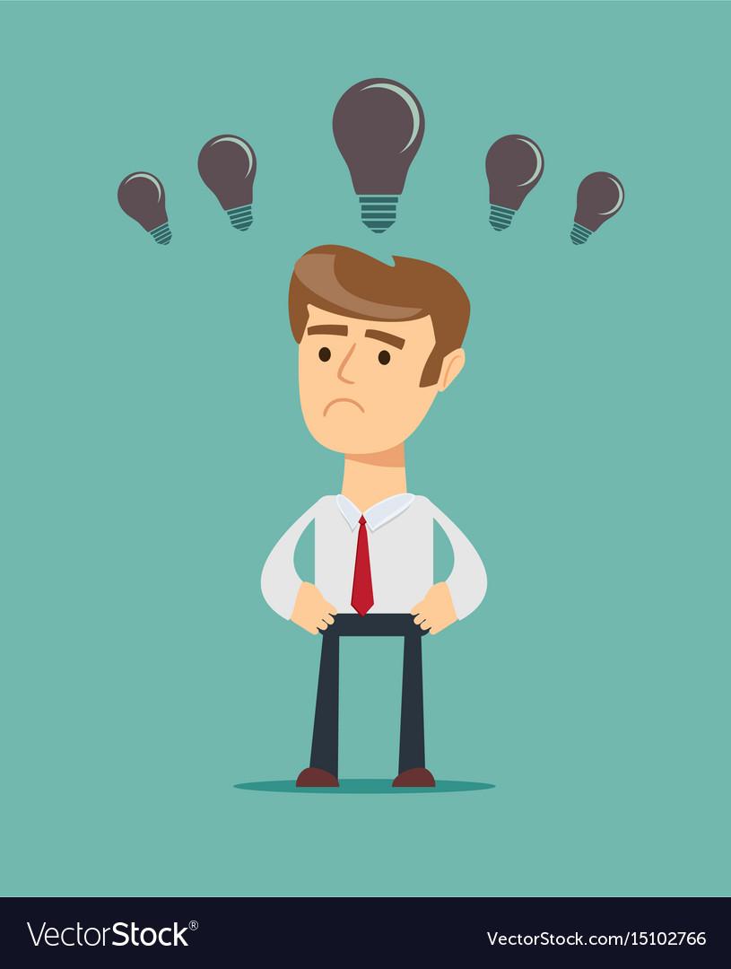 Business concept no ideas lamps