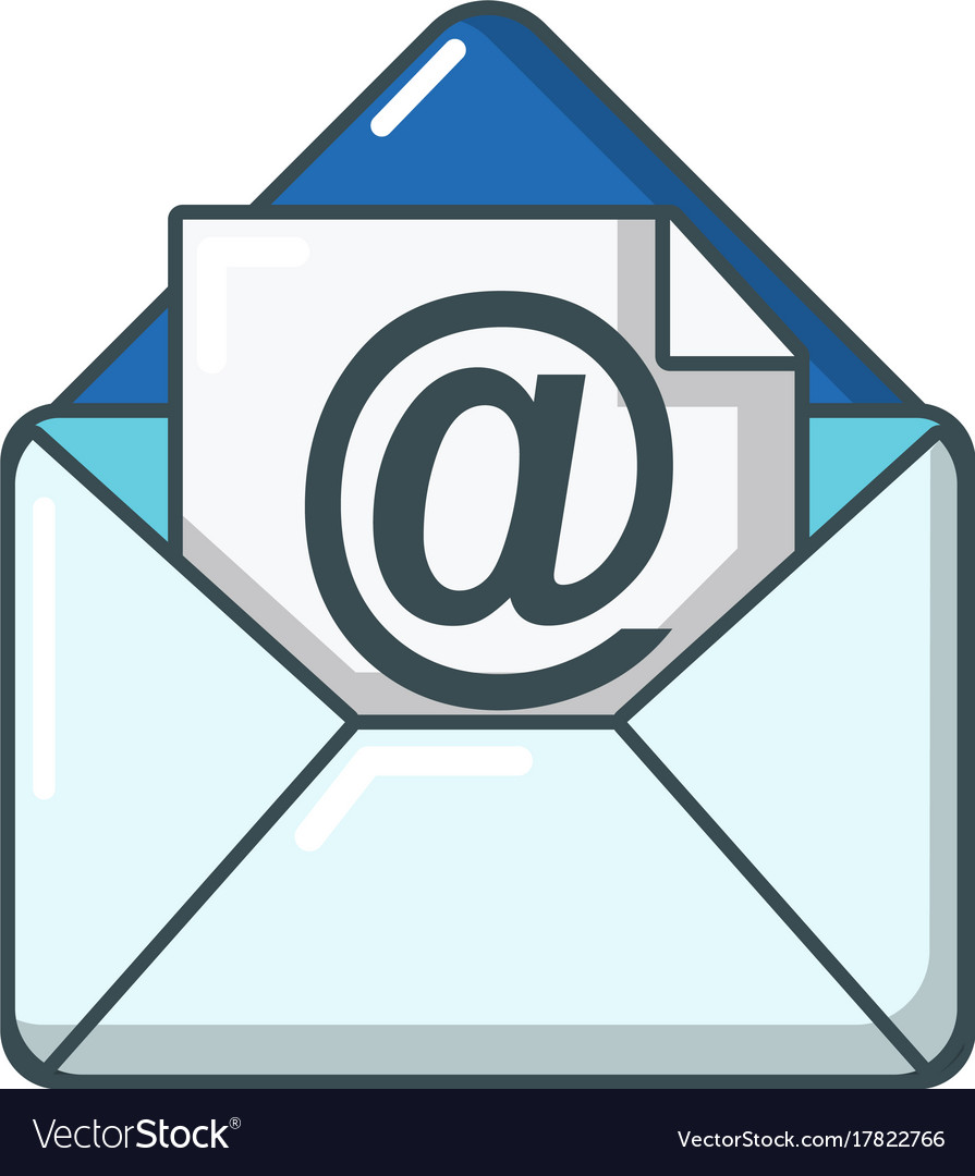 email icon cartoon style royalty free vector image