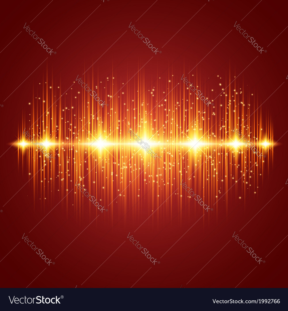 Glowing Equalizer vector image