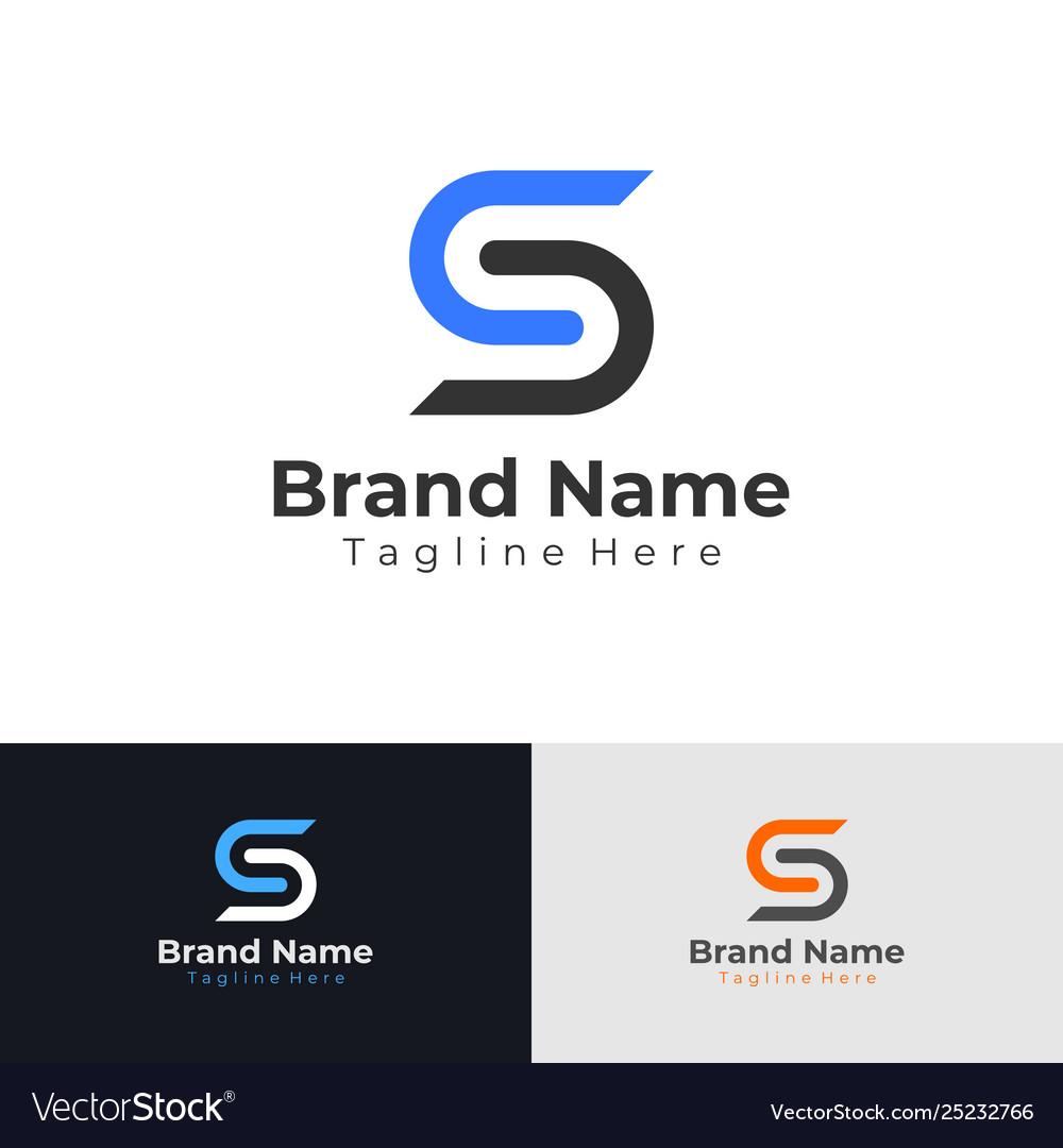 Letter s logo flat business logo design