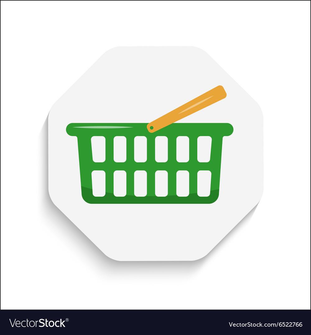 Shopping Cart icon button Modern material design vector image