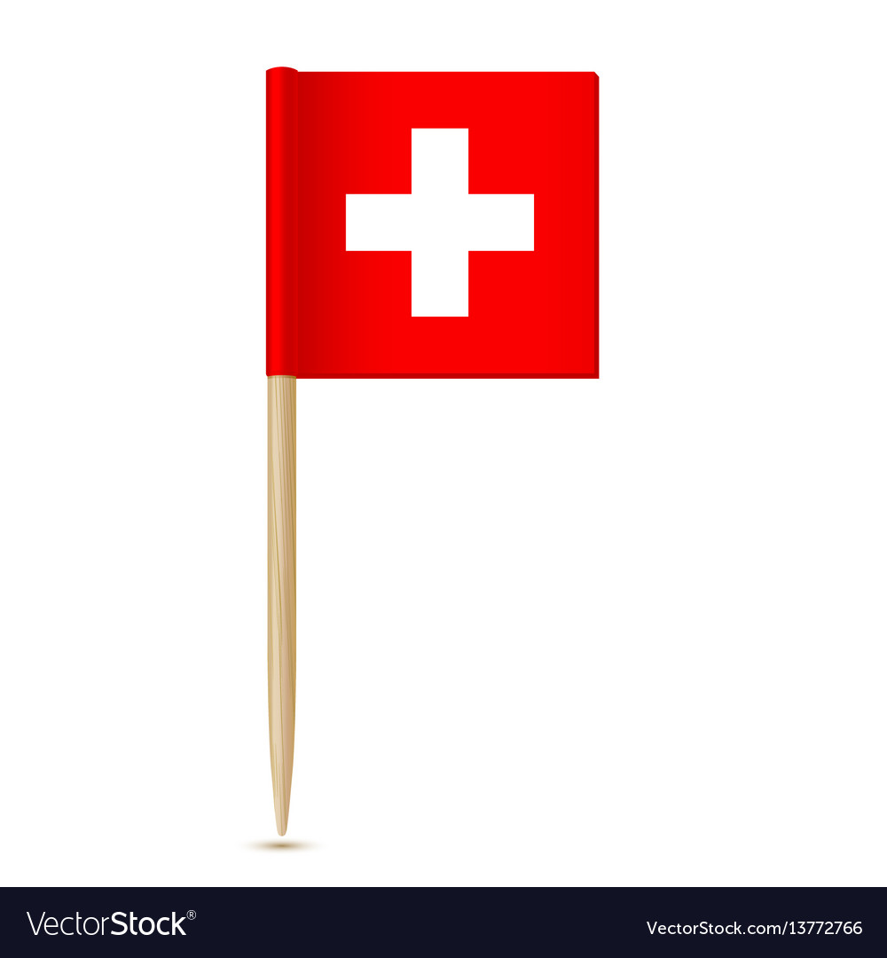 Swiss flag flag toothpick switzerland