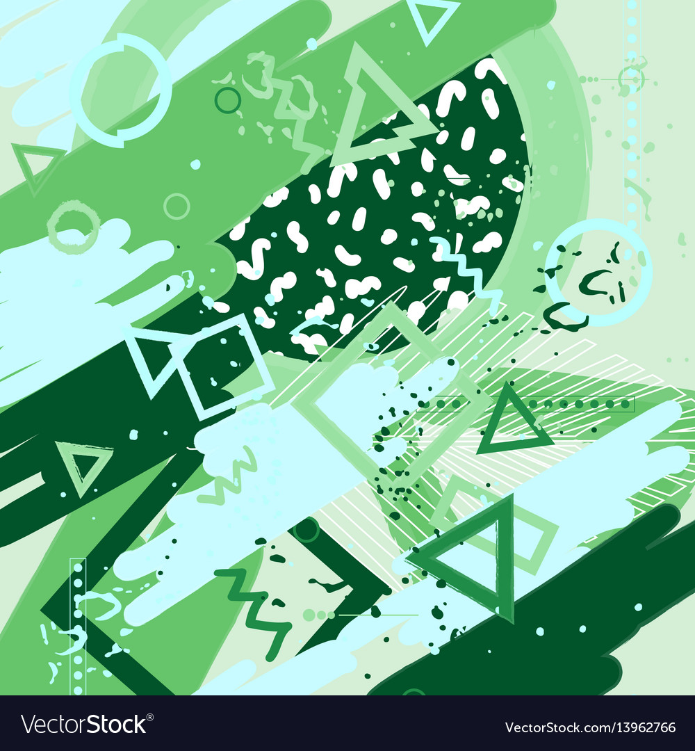 Universal abstract cards and posters set vector image