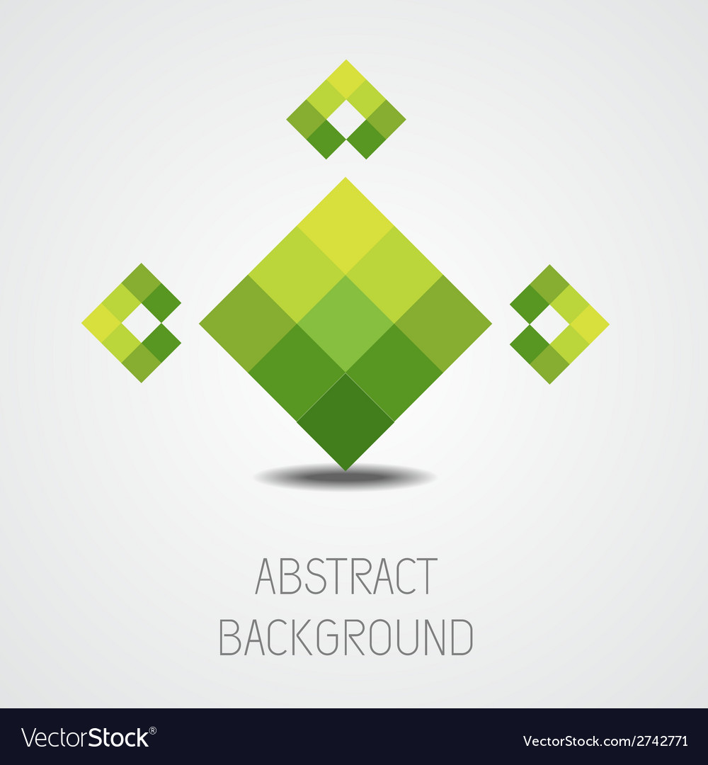Abstract green shape background
