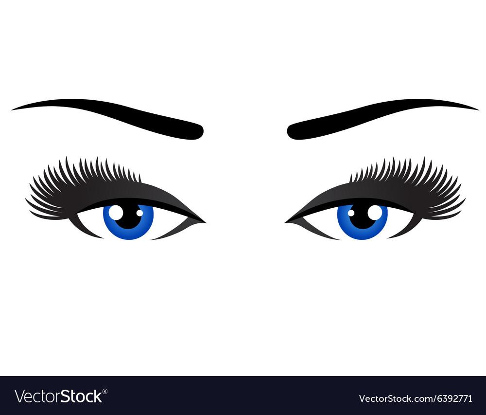 Blue eyes with long eyelashes