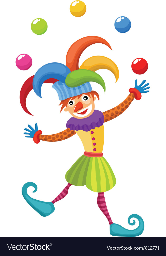 clown royalty free vector image vectorstock rh vectorstock com clown victoria tx crown vector image