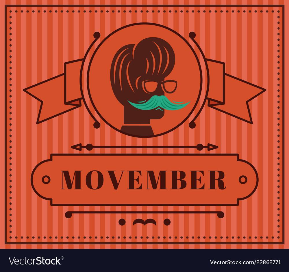 Movember classic vintage annual flat vintage