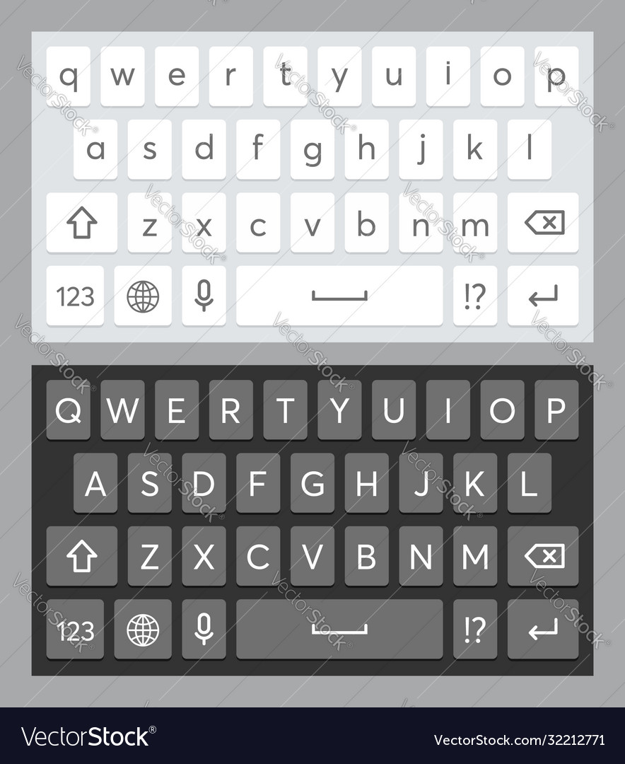 Realistic mobile keyboard template