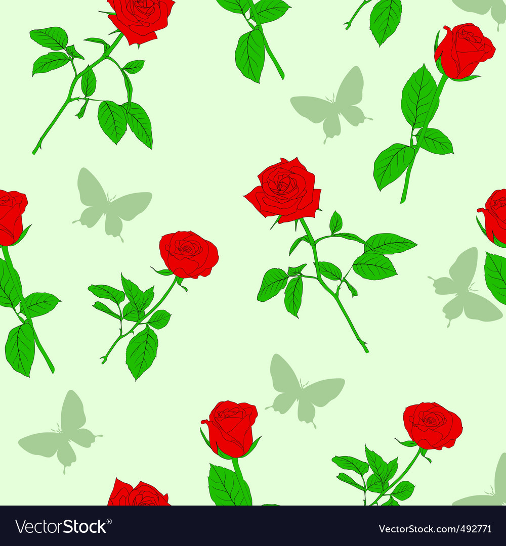 Roses Wallpaper Pattern Royalty Free Vector Image