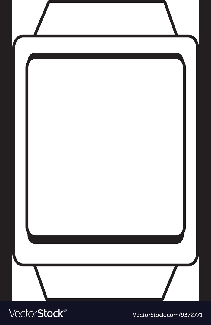 Square watch with frame graphic vector image