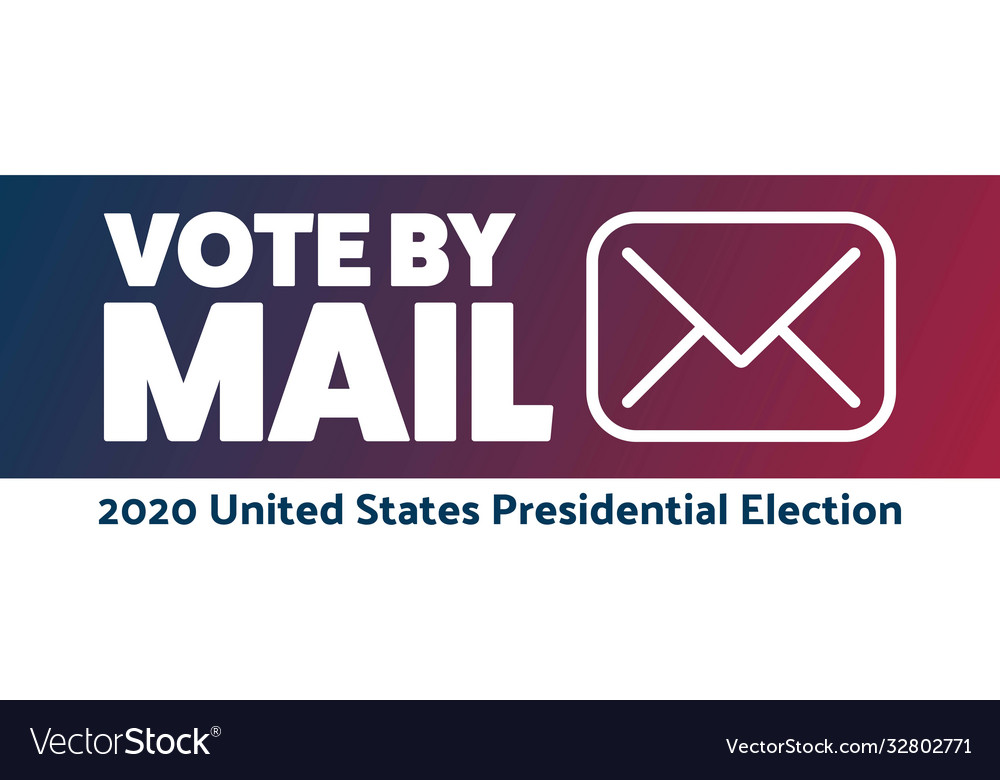 Vote mail stay safe concept the 2020 united