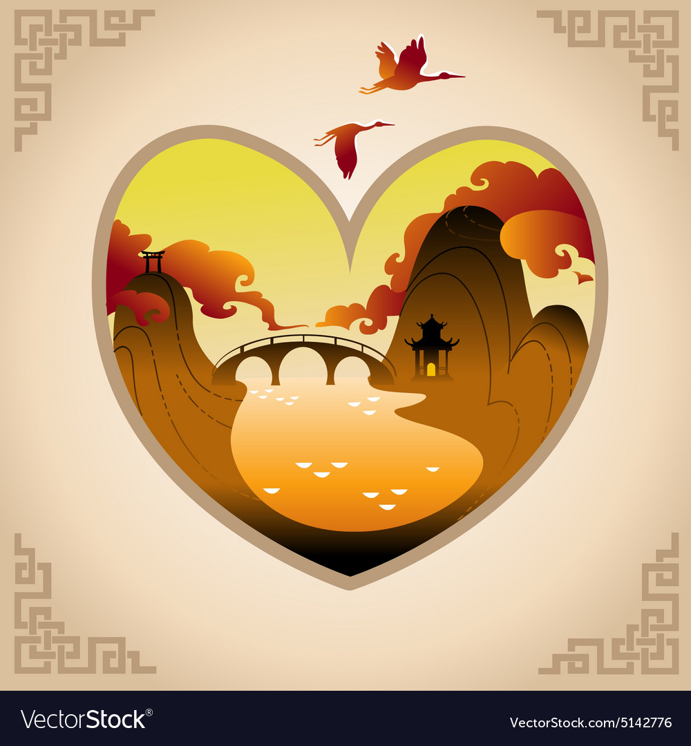 Abstract Chines Background vector image