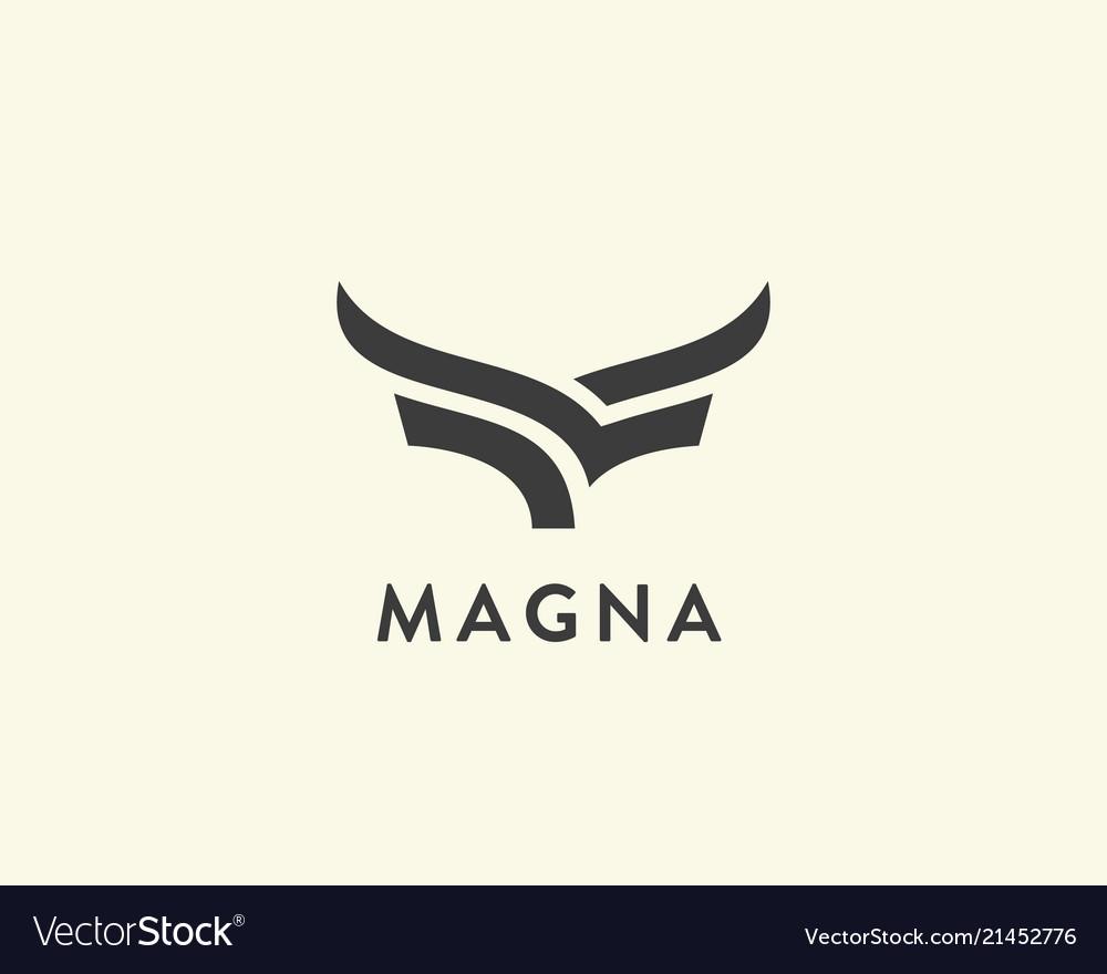 Abstract cow steak premium logo design creative